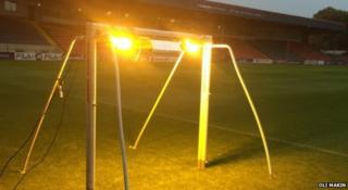 Cannabis lamps on the pitch