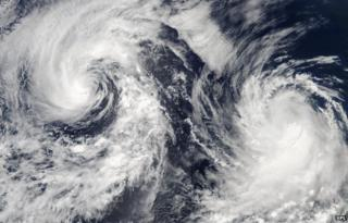 satellite image of weather systems