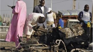 Aftermath of a Boko Haram attack in Kano state, 15 November 2014