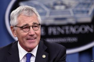 Chuck Hagel at the Pentagon, 30 October 2014