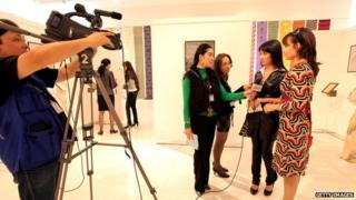 Filming of the Uzbek TV show