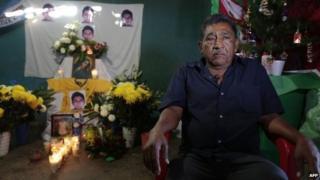 Ezequiel Mora during a vigil for his son, Alexander