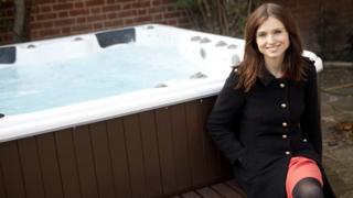 Sophie Ellis-Bextor and her Danz Spas hot tub