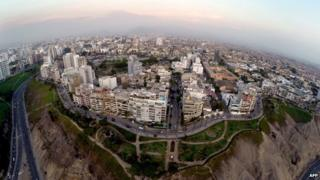 Aerial view of Lima