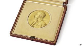 Watson's Nobel medal