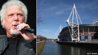 Tom Jones and the Millennium Stadium