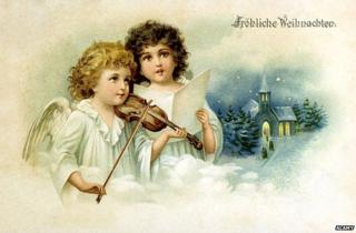 German kitsch postcard from the 19th Century