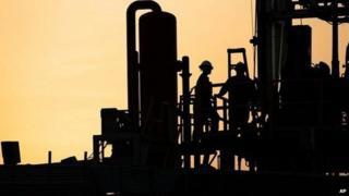 Oil rig in Bahrain, file pic