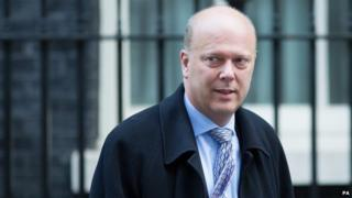 Lord Chancellor Chris Grayling