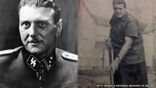 Otto Skorzeny in his Nazi uniform, and working on his farm in County Kildare