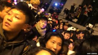Crowds in the Bund, Shanghai 31 Dec 2014
