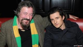 Stephen Fry and Orlando Bloom
