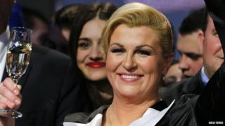Croatian president-elect Kolinda Grabar-Kitarovic