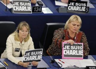 MEPs in Strasbourg, 12 Jan 15