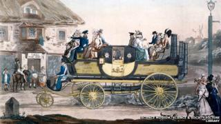 People on board Sir Goldsworthy's steam carriage (based on the original drawing by G Morton)