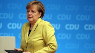 German Chancellor Angela Merkel, Dec 2014