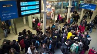 Passengers at St Pancras