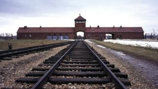 A view of the Auschwitz concentration camp