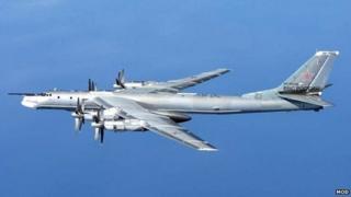 A Russian Tu-95 Bear 'H' aircraft