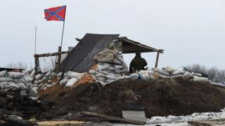 Rebel position near Debaltseve, 29 Jan 15