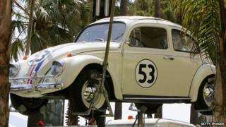 VW Beetle Herbie on display