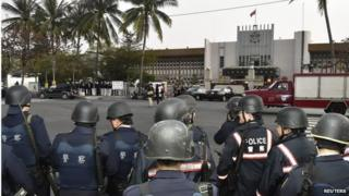 Police outside the Kaohshiung prison, Taiwan (11 Feb 2015)