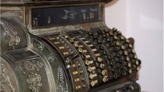 Old fashioned cash register