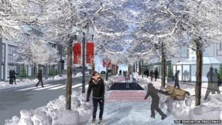 Artist's rendering of the Freezeway