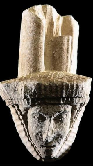 Stone carved head stolen from dryburgh abbey bbc news