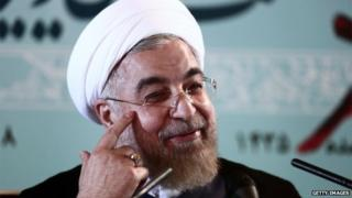 President Hassan Rouhani (shown in Tehran)