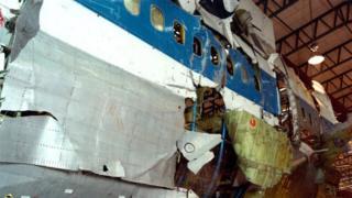 Pan-Am 103 damaged fuselage
