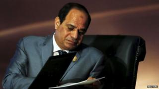 Egyptian President Abdel Fattah al-Sisi, 29 March