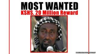 Kenya university attack: Wanted poster showing Mohamed Mohamud, alias Dulyadin alias Gamadhere - ALLEGED to be the mastermind behind the attack on the campus by Islamist militants