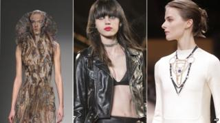 Thin models from various fashion houses take part in Paris fashion week in March 2015