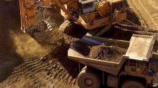 Iron ore being loaded at a mine in Pilbara