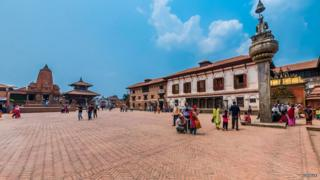 Bhaktapur's Durbar Square before the quake