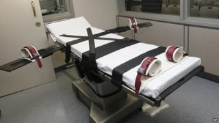 An execution chamber in Oklahoma