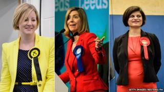 SNP MP Hannah Bardell, Conservative MP Andrea Jenkyns and Labour MP Thangam Debbonaire