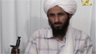 Al-Qaeda in the Arabian Peninsula (AQAP) leader Nasser al-Wuhayshi shown in video grab from 2009