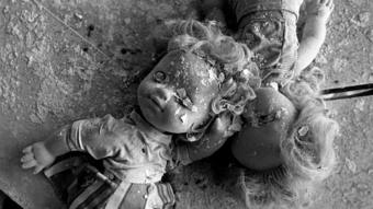 Decayed dolls in Pripyat's school no 2