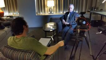Richard Dawkins durante entrevista à BBC