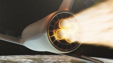 Animación de un avión supersónico