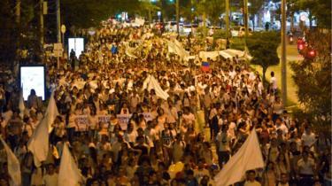 Kolombiya protestolar