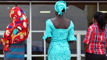 Three teenagers in Nigeria (archive shot)