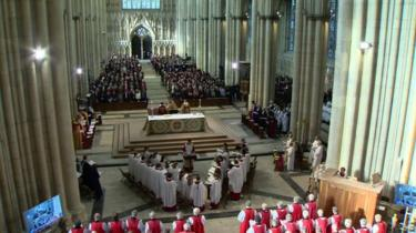 Hundreds of people are inside York Minster
