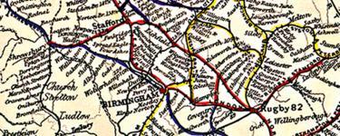 Bradshaw railway map, 1852