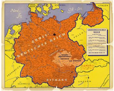 Nazi map of greater Germany
