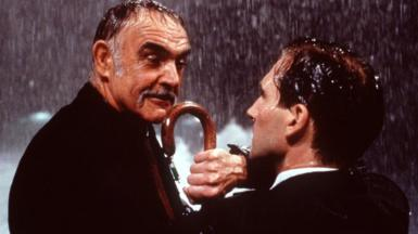 Sean Connery with Ralph Fiennes in The Avengers