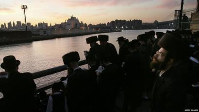 Hasidic Jews celebrate Rosh Hashanah in the US
