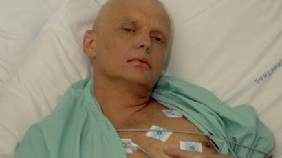 Alexander Litvinenko in hospital after his poisoning